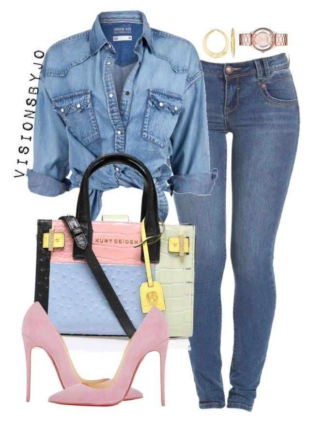 """""""Untitled #1469"""" by visionsbyjo on Polyvore featuring Soul Cal, Kurt Geiger, Christian Louboutin, Ross-Simons, Marc by Marc Jacobs, women's clothing, women, female, woman and misses"""