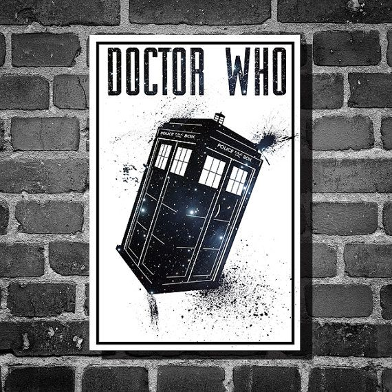 Doctor Who movie poster minimalist poster geekery art tardis print