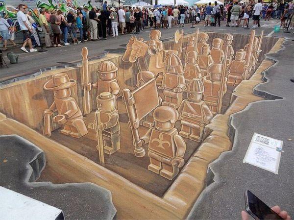 Nefes Kesen 3D Sokak Sanatı Resimleri - Bu muhteşem parça Kasım 2011 Sarasota Chalk Festivali'nde sergilendi.