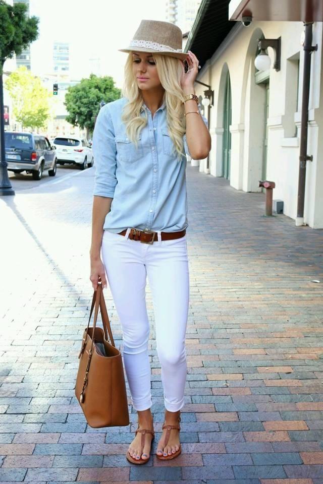 Outfits con pantalones blancos, cómo combinarlos
