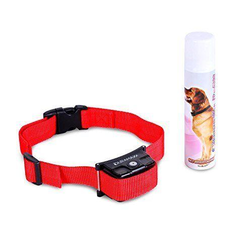Duramaxx Tyson - Collier de dressage pour chien anti-aboiement avec capteur (spray citronnelle naturel inclus, non-nocif, encolure max…