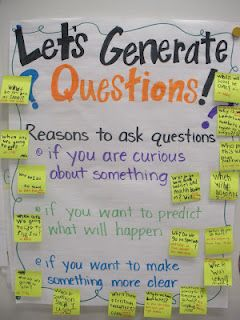 great anchor chart!Add Clipart, Generation Questions, Math Centers, Questions Anchors, Anchor Charts, Science Lesson, Sticky Note, Science Classroom, Anchors Charts