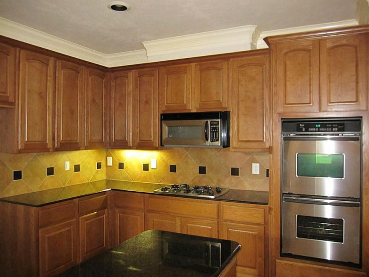 Black Countertops With Backsplash Countertops Also