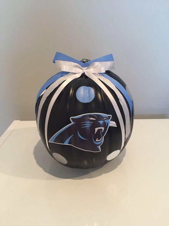 Items Similar To Carolina Panthers Pumpkin On Etsy