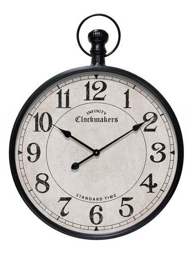 Grand Central Pocket Watch Wall Clock from Home Decorators Collection.  The Grand Central Pocket Watch Wall Clock is a classic pocket watch design. The thick case is made of metal painted in black finish.  Get your rebate from RebateGiant.