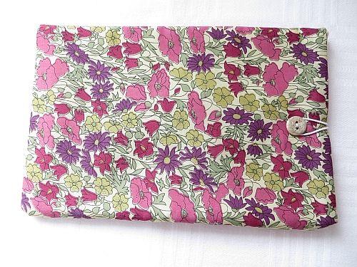 Liberty Poppy Daisy Handmade Tablet Cover, Purple/Pink.