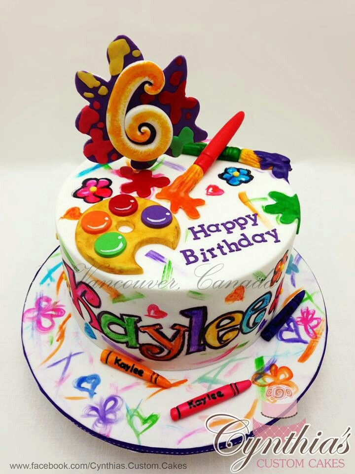 Birthday Cake Art And Craft : Best 20+ Artist Cake ideas on Pinterest Paint cake, Art ...