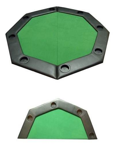Card Tables and Tabletops 166572: Padded Octagon Folding Poker Table Top W Cup Holders In Green [Id 59345] -> BUY IT NOW ONLY: $103.76 on eBay!