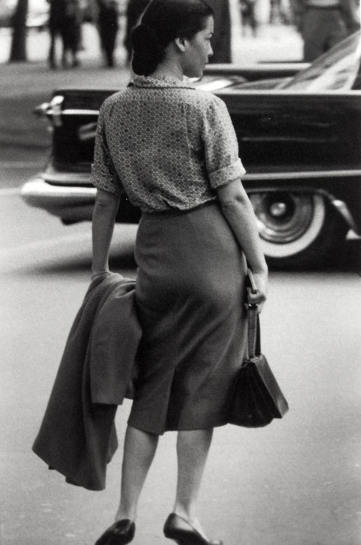 Canvas Tavla Kok : Saul Leiter ca 1958 (Comment 2015 Interestingly, the women seems to