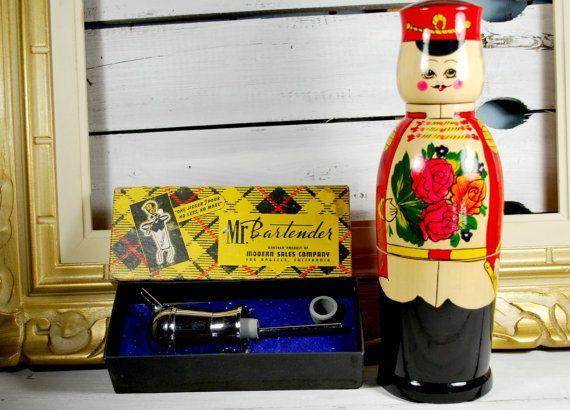 Mr. Bartender Jigger Liquor Pourer  Matryoshka by Dupasseaupresent