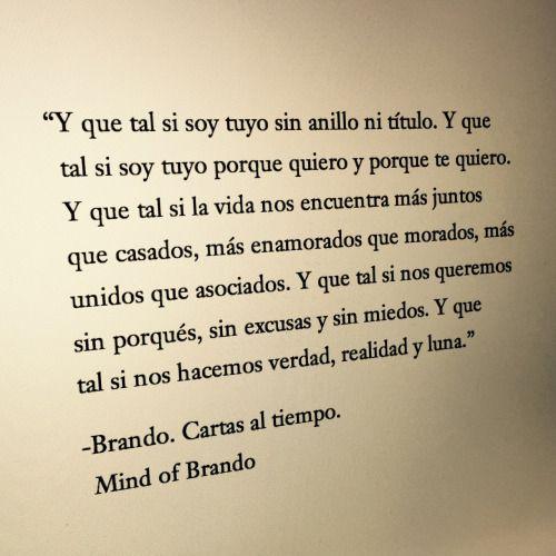-Brando. Cartas al tiempo.
