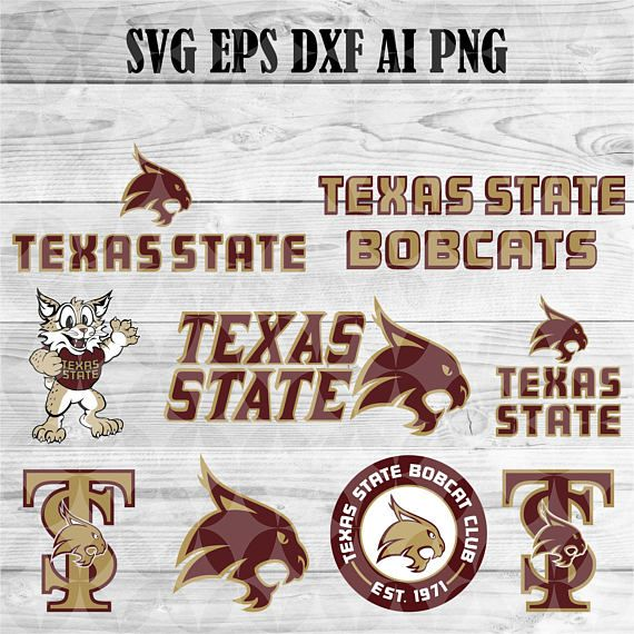University Of Texas State Bobcats Svg Team Logo Svg Png Eps Dxf Cricut Collegiate Ncaa Banner Shirt Deca Texas State Bobcats Texas State Texas State University