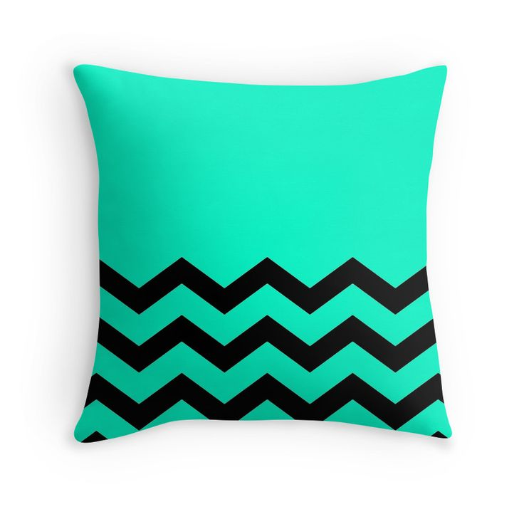 Beautiful Cushions/Chevron/ Aqua Black