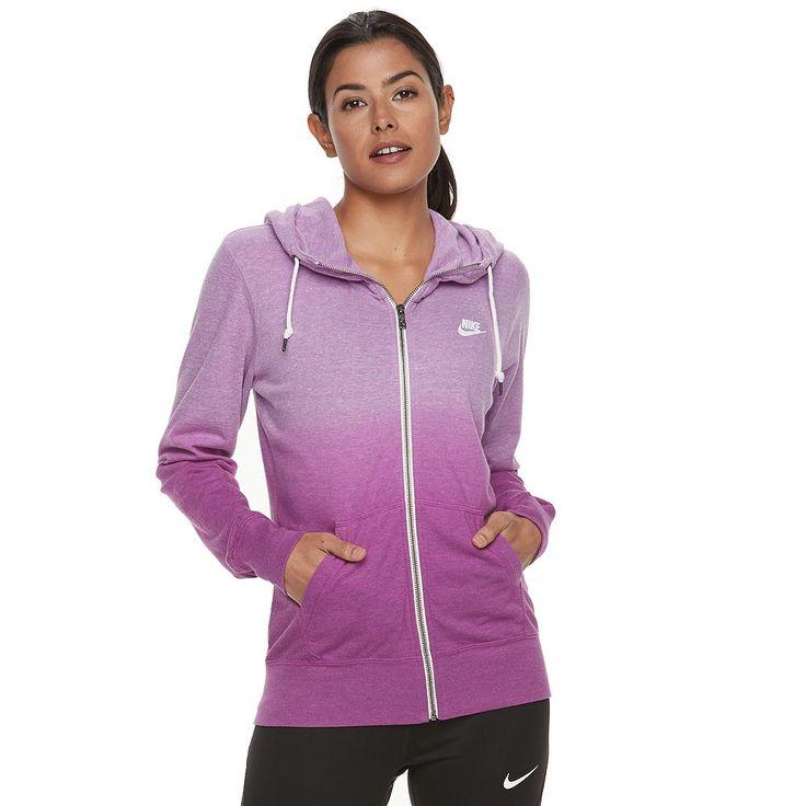 Women's Nike Sportswear Vintage Ombre Zip Up Hoodie, Size: Medium, Drk Purple