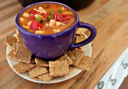 Crock Pot: Hot n Spicy White Bean Chicken Soup