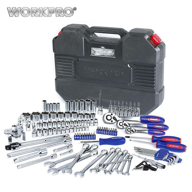"""WORKPRO 123 STÜCK Werkzeug-set 1/4 """"& 3/8"""" & 1/2 """"Ratschenschlüssel Car Repair Tools Schraubenschlüssel Steckdosen Bits Set Repair Tool Kits"""