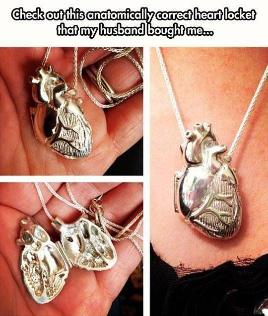 Literal heart locket...so many puns come to mind
