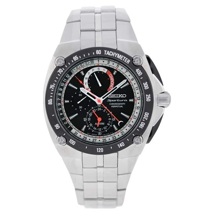 Seiko Sportura Mens Watch SPC047P1, Silver