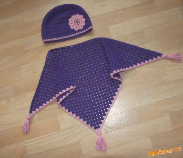 *háčkovaný šátek *