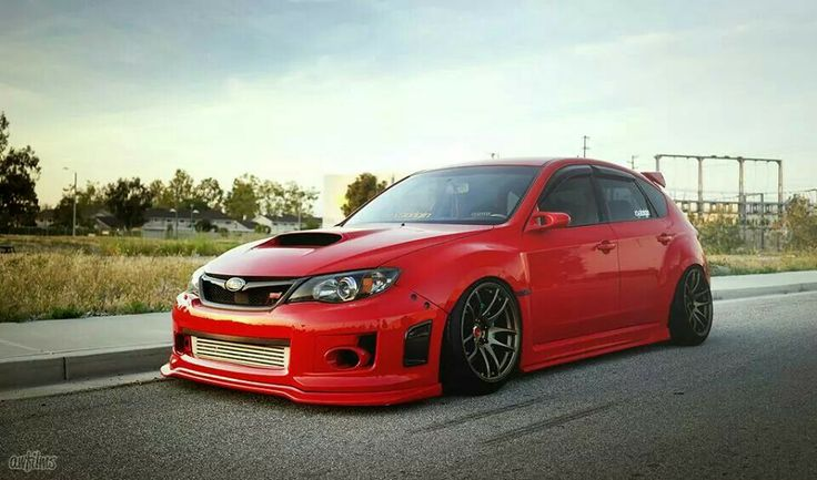Red wrx Car, Drift cars, Subaru wrx sti hatchback