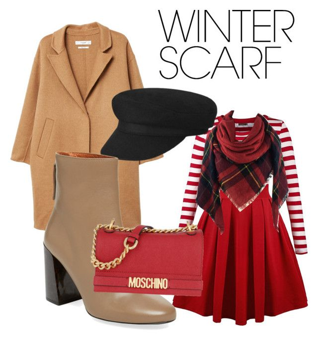 """Winter scarf"" by drumeaclementina on Polyvore featuring MANGO, Pure Navy, Moschino and winterscarf"
