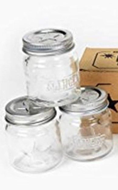 Adorable 2oz glass mason jars- perfect for giving out samples of DIY essential oil projects like bath salts, sugar scrubs, body butters, and salves. click image for info on where to buy