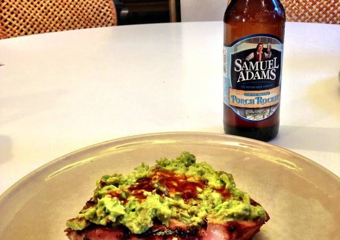 Grilled Tuna Steak w/ Homemade Guacamole Recipe -  Yummy this dish is very delicous. Let's make Grilled Tuna Steak w/ Homemade Guacamole in your home!