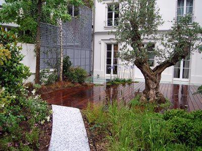 10 best images about projets de paysagistes on pinterest for Jardin urbain contemporain