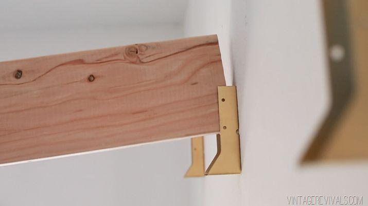 DIY Industrial Ceiling Beams