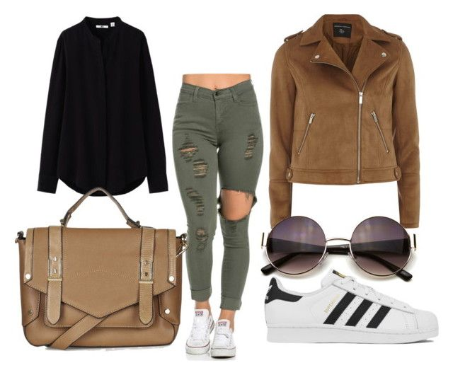 """Untitled #15"" by tereza-99 on Polyvore featuring Dorothy Perkins, Uniqlo, adidas and Topshop"