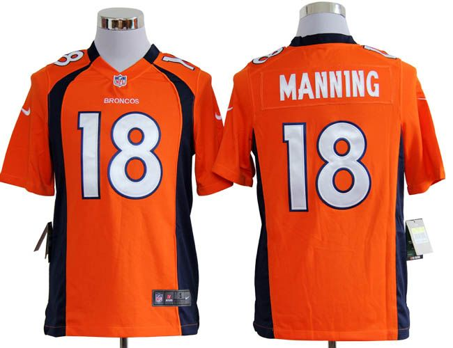 NFL Denver Broncos 18 Peyton Manning Orange Nike GAME Jersey ...