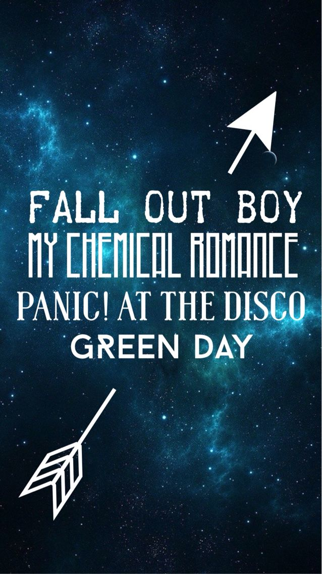 Fall out boy/ My Chemical Romance/ Green Day/ Panic! At the disco