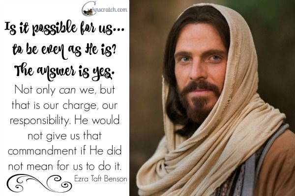Love this quote to go with Ezra Taft Benson Chapter 24: A Christ-Centered Life.
