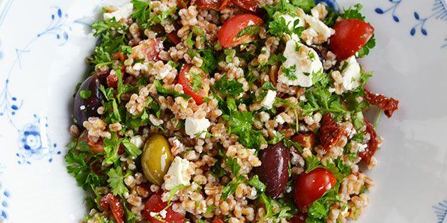 Salat med hvedekerner