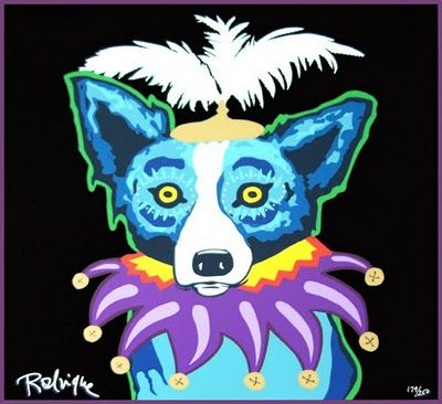 HAPPY #mardigras from the Blue Dog, himself! #bluedog #dog