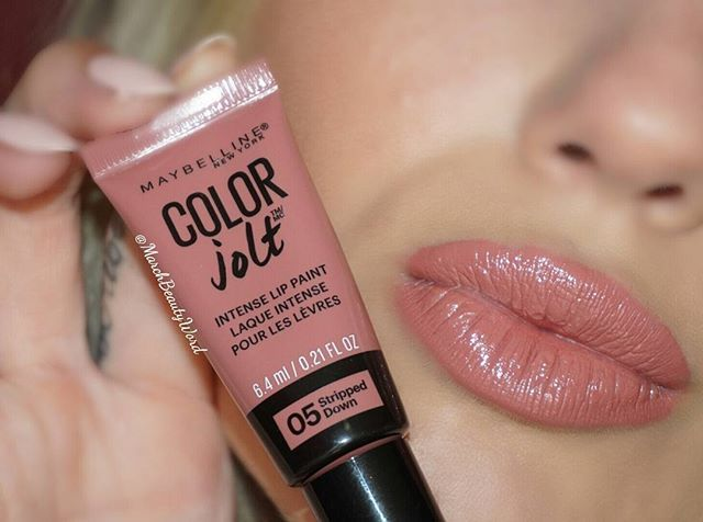 Wow am I impressed with the new Color Jolt Intense Lip Paint from @maybelline