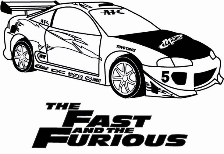 Fast And Furious Cars Draw Sketch Coloring Page