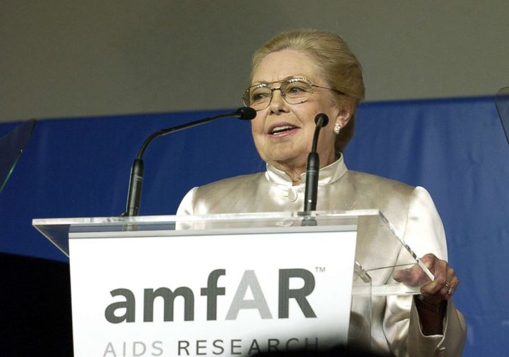 PHOTO: Dr. Mathilde Krim during 2003 Cannes Film Festival - Cinema Against Aids 2003 to benefit amfAR sponsored by Miramax - Auction at Moulin de Mougins in Cannes, France, May 22, 2003.