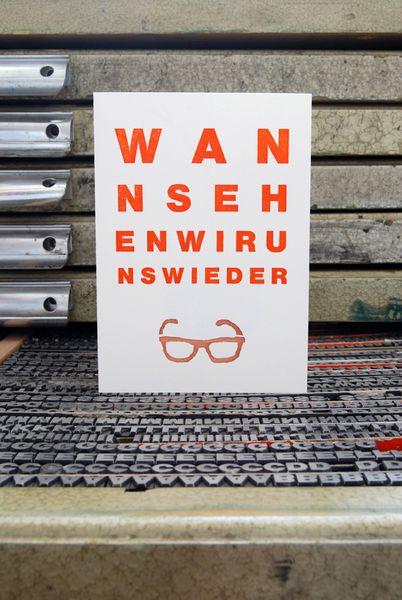 "Druck ""Wann sehen wir uns wieder?"" // Print ""When are we gonna see each other again?"" by monas_DickyBird via DaWanda.com"
