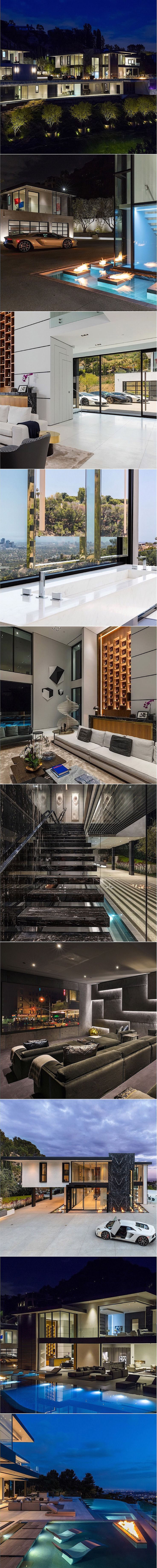 1677 N Doheny Dr, perched on a promontory above #Hollywood's famed Bird Streets in the prestigious Sunset Strip enclave known as the Doheny Estates, sits this exquisitely designed #architectural, custom #home. A model of sophistication, it showcases unprecedented #European craftsmanship and #bespoke details which elevate the #property to a true work of #art.