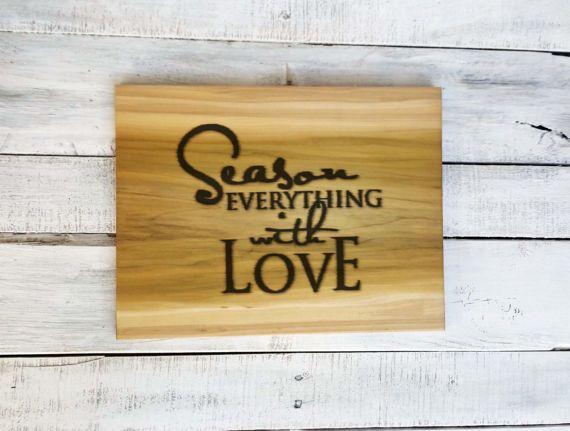 Unique Cutting Board  Rustic Cutting Board  Father's Day