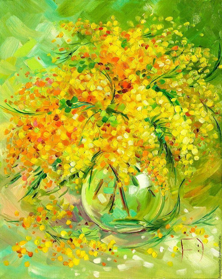 желтые цветы в картинах художников вкусовых качествах