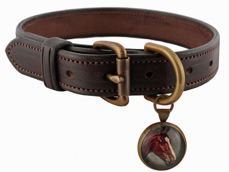The Leather Dog Collar Brown Large (With images) Equine