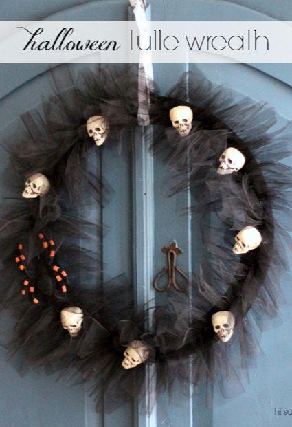 Hi Sugarplum | Halloween Tulle Wreath