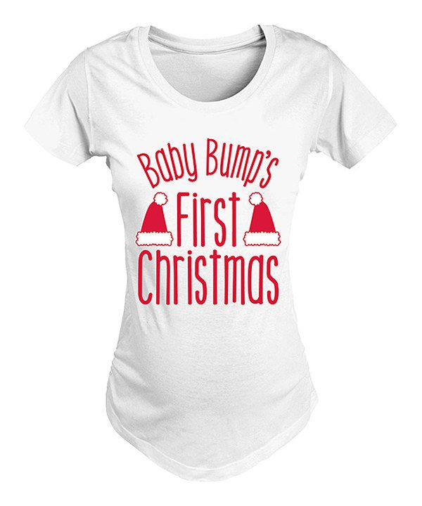 'Baby Bump's First Christmas' Maternity Tee