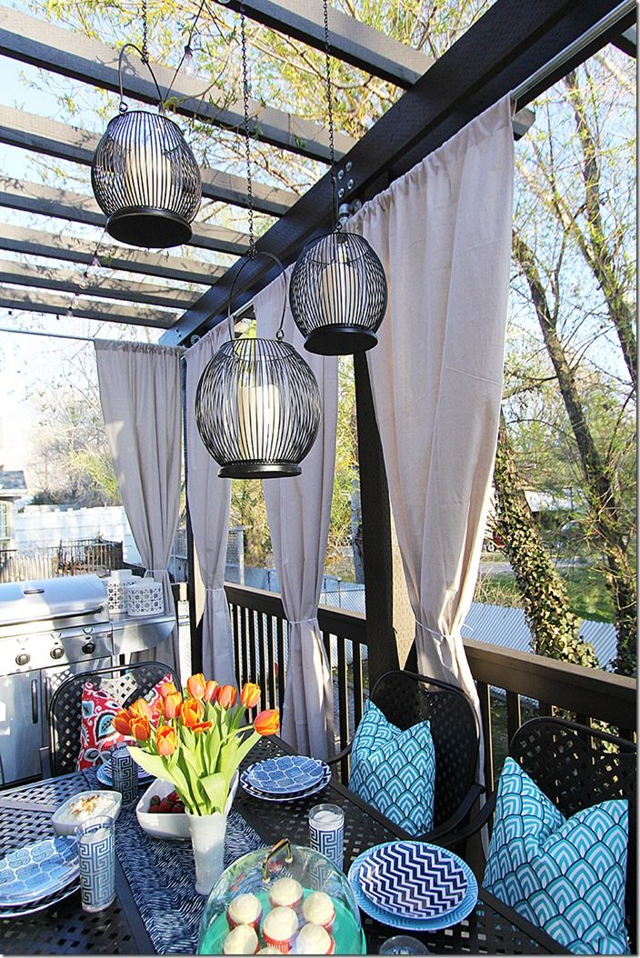 22 besten vorhang ideen balkon terrasse bilder auf pinterest vorh nge ideen balkon und verandas. Black Bedroom Furniture Sets. Home Design Ideas