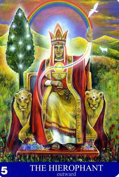 V - Le pape (extérieur) - New Aura Soma Tarot