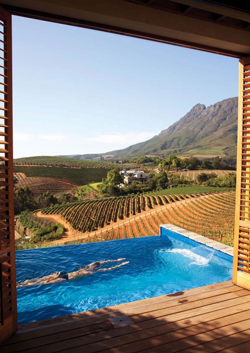Lodge 4 at the Delaire Graff in Stellenbosch, South Africa