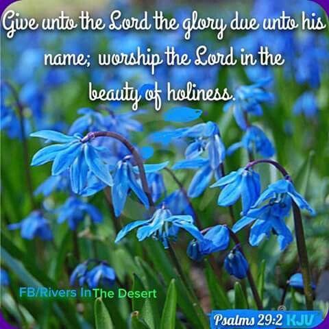 Psalms 29:2 KJV