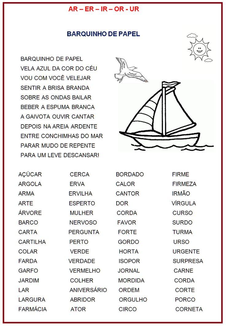 Ortografia: ar – er – ir -or –ur  |   Rérida Maria